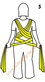 Връзване на слинг-шал, Основен възел, стъпка 5