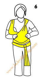 Връзване на слинг-шал, поза Люлка, стъпка 6