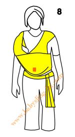 Връзване на слинг-шал, поза Люлка, стъпка 8