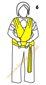 Връзване на слинг-шал, поза Кенгуру, стъпка 6