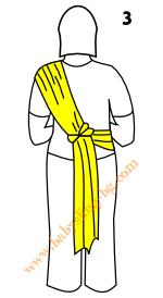 Връзване на слинг-шал, поза Хълбок, стъпка 3