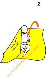 Връзване на слинг-шал, поза На гръб, стъпка 2