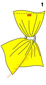 Слагане на слинг с халки, стъпка 1