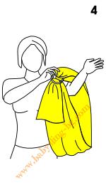 Слагане на слинг с халки, стъпка 4