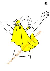 Слагане на слинг с халки, стъпка 5
