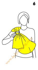 Слагане на слинг с халки, стъпка 6