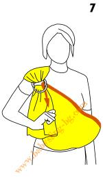Слагане на слинг с халки, стъпка 7