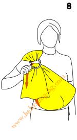 Слагане на слинг с халки, стъпка 8