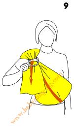 Слагане на слинг с халки, стъпка 9