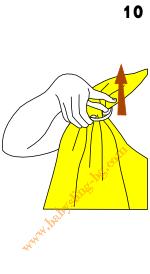 Слагане на слинг с халки, стъпка 10