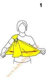 Инструкции за слинг с халки, поза Люлка, стъпка 1