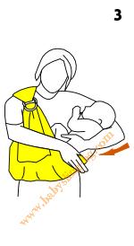 Инструкции за слинг с халки, поза Люлка, стъпка 3