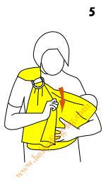 Инструкции за слинг с халки, поза Люлка, стъпка 5