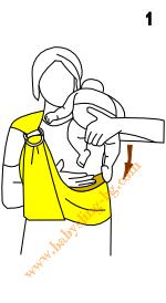 Инструкции за слинг с халки, поза Кенгуру, стъпка 1