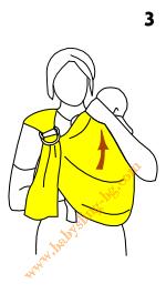 Инструкции за слинг с халки, поза Кенгуру, стъпка 3