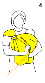 Инструкции за слинг с халки, поза Кенгуру, стъпка 4