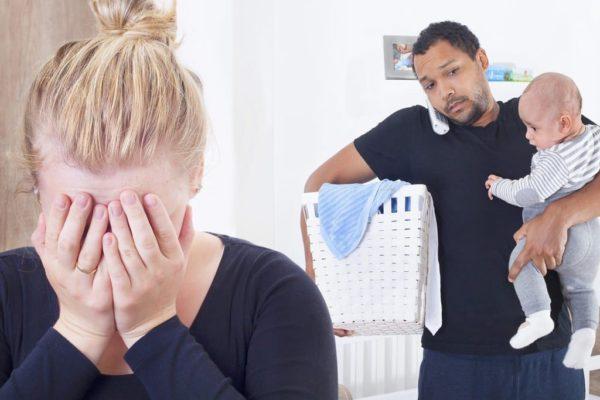 майка плаче; следродилна депресия, изтощена майка, изтощени родители, бебе плаче, трудности с бебето