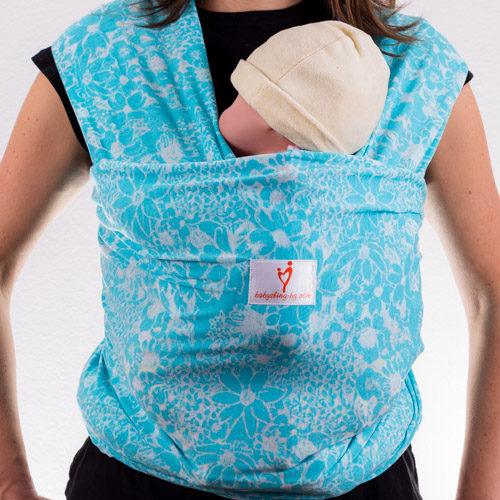 Тюркоаз слинг шал за носене на бебе