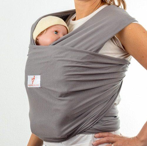 Графит слинг шал за носене на бебе