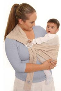 Инструкции за слинг с халки: пози На хълбок/гръб