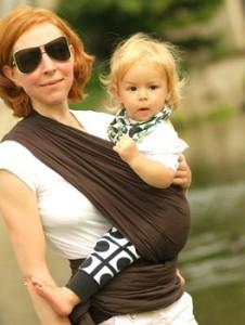 Инструкции за слинг-шал в поза: На хълбок