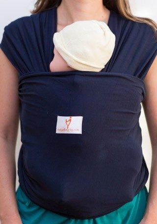 Индиго слинг шал, слинг за носене на бебе, еластичен слинг за новородено