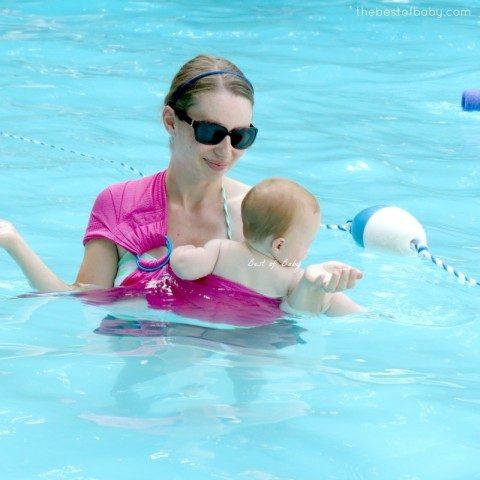 Плажен слинг за носене на бебе, за ползване във вода