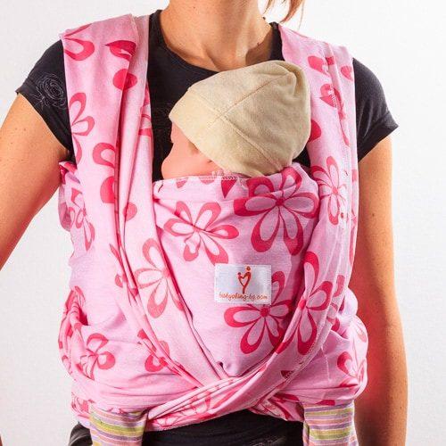 Розово вълшебство тъкан слинг шал