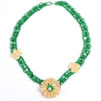 Колие Ракош - зелено със златисто