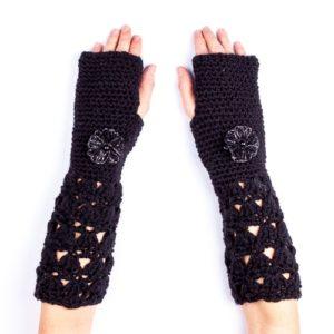 Ръкавици дълги черни