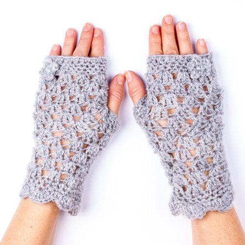 Ръкавици дантелени сиви