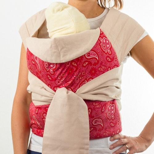 Калина май тай слинг за удобно носене на бебе и малко дете до 16 кг в ергономична поза за носене