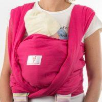 Малина тъкан слинг шал за носене на бебе