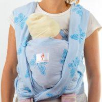 Пеперуда тъкан слинг шал за носене на бебе